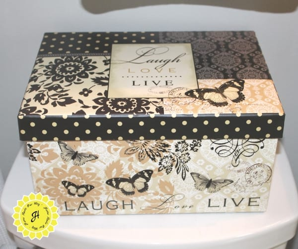 decorative box for feminine products