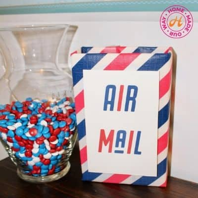 image of jar of candy and airmail box