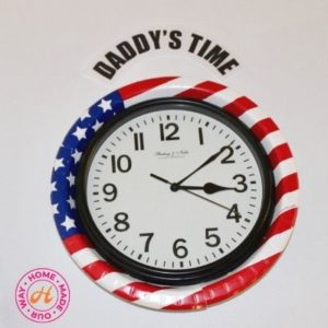 image of american flag clock