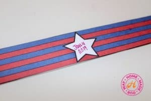 striped paper strip with star