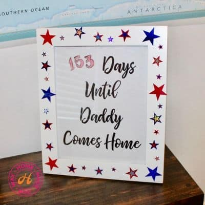 image of frame with quote for dry erase activity