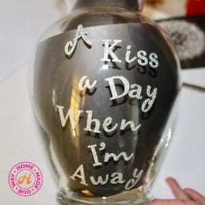 vase with lettering