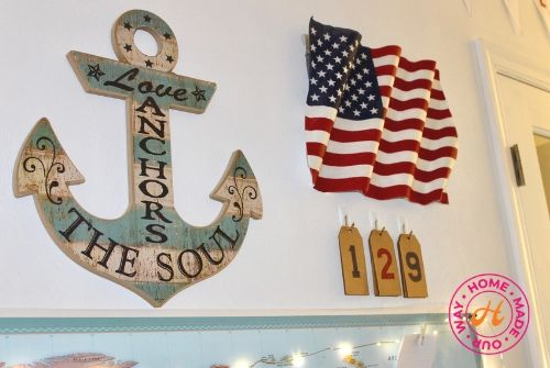 image of anchor, wavy American flag, and countdown numbers