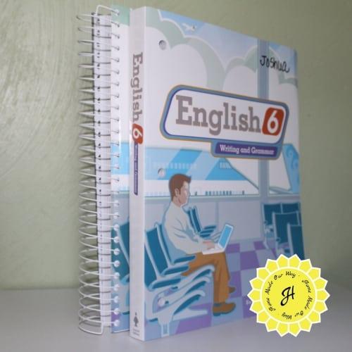 BJU Press English 6th-grade level teacher's edition and workbook