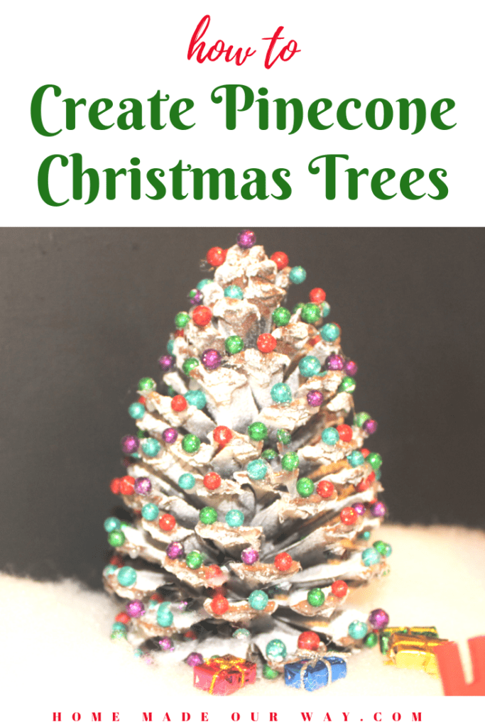 pin image for creating pine cone christmas trees post