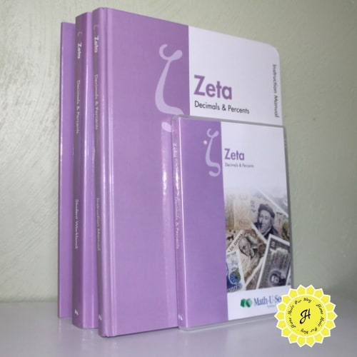 Math-U-See textbook, Workbook, Tests, and Video for Zeta level