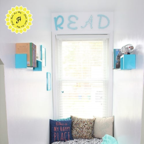 top of reading nook