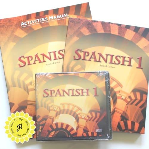 image of spanish 1 homeschool curiculum by bju press