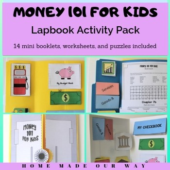 Money 101 for Kids Lapbook Activities and More