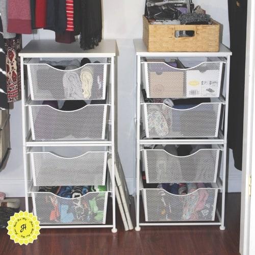 image of closet bins for storage