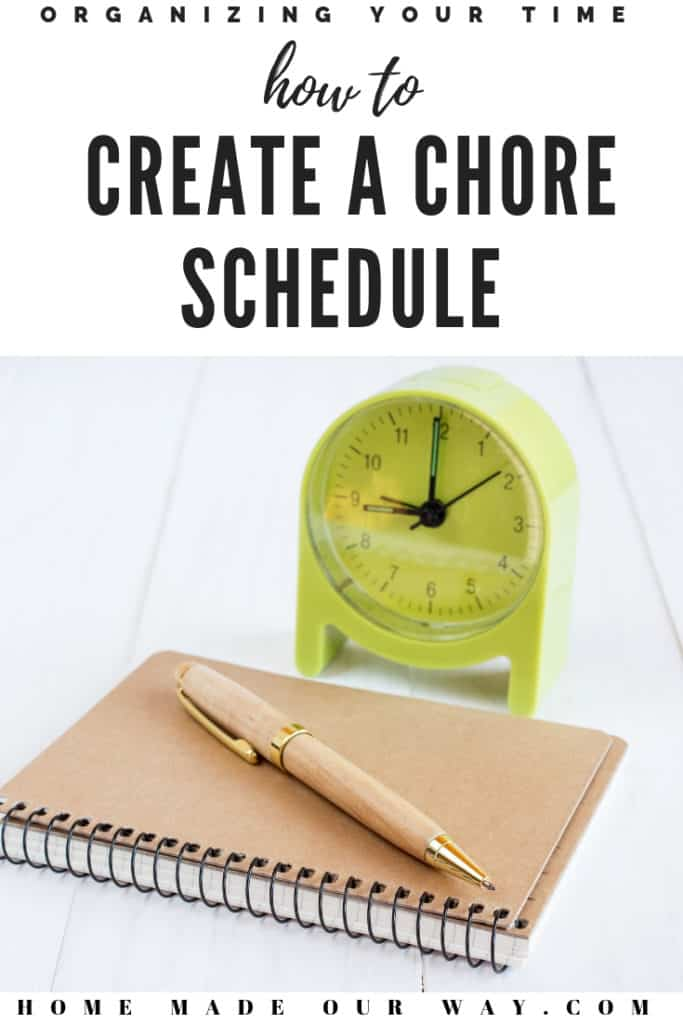 Pin image of How to Create a Chore Schedule post