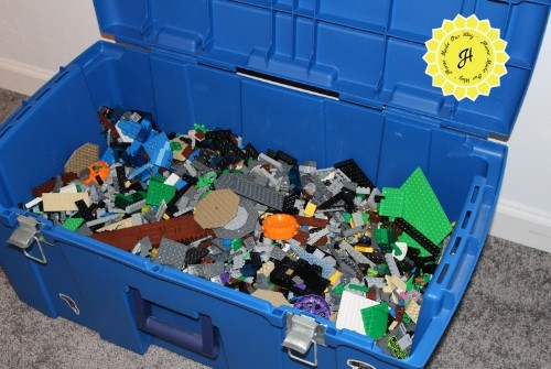 toys - trunk full of Lego pieces