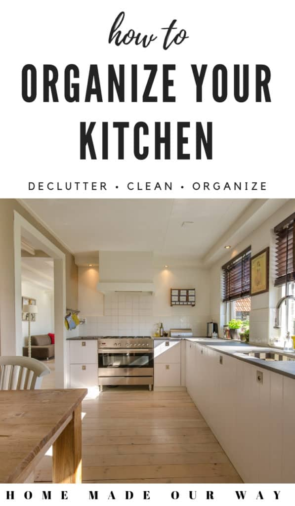 pin image for organizing kitchen post