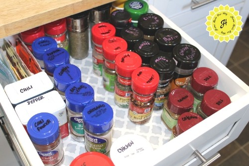 drawer full of spices