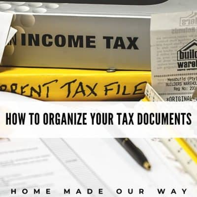 How to Organize Your Tax Documents [Free Tax File Cover Sheet]