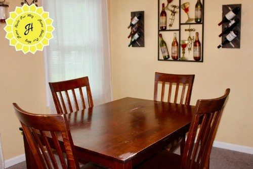 dining room table before DIY