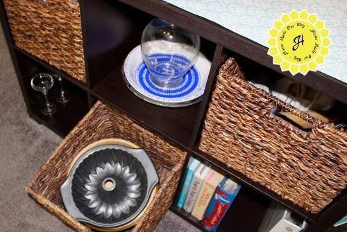cube organizer basket with bowls