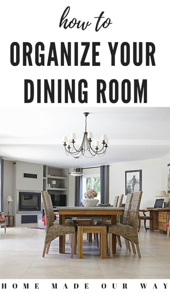 pin image for dining room organization post