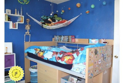 image of boys' bedroom and loft bed