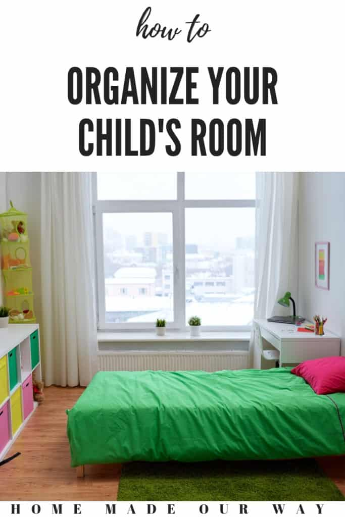pin image for how to organize your child's bedroom post