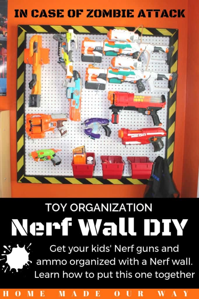 Pin image for Nerf Wall DIY post