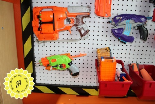 nerf wall configuation bottom left guns and ammo