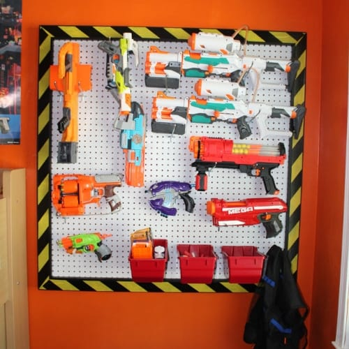 Nerf Wall for guns and ammo