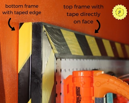 Nerf wall frames