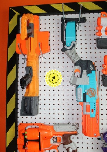 nerf wall configuration on top left corner guns