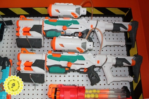 nerf wall configuration top right corner guns