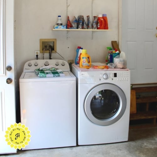 washer and dryer after organizing