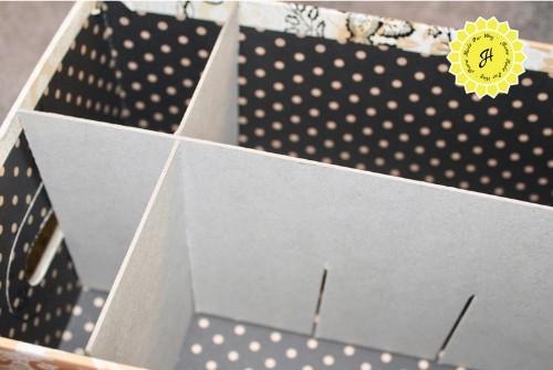 interlocking chipboard pieces inside feminine products box