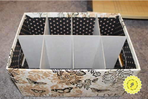 interlocking chipboard for feminine products sectioned organizer