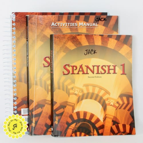 spanish textbook workbooks for 9th grade homeschool curriculum by bju press