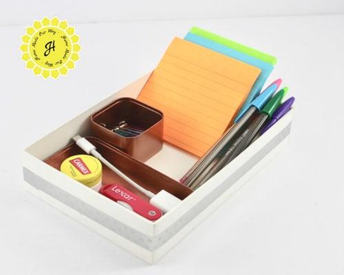 simple desk supplies tray