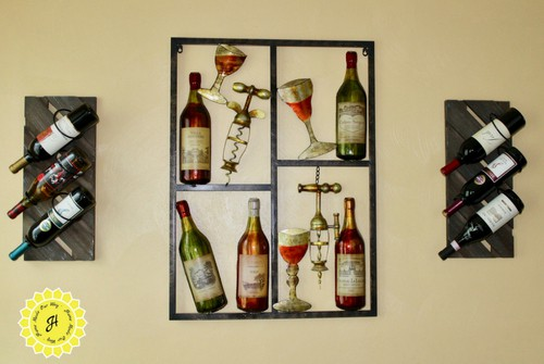 wine wall decorative organizer