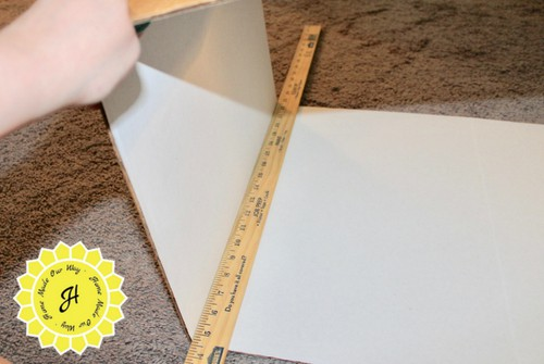 folding trifold board in half