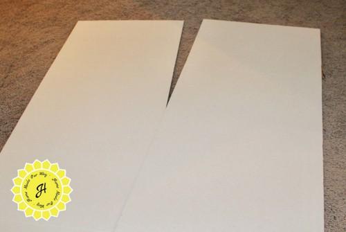 trifold board split in half