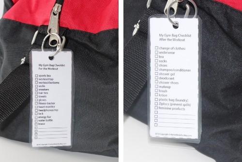 gym bag checklists