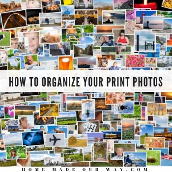 How to Organize Your Print Photos