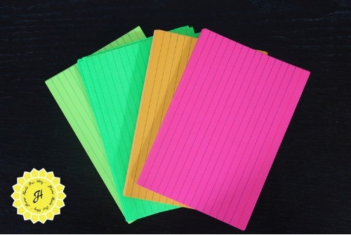 colorful index cards
