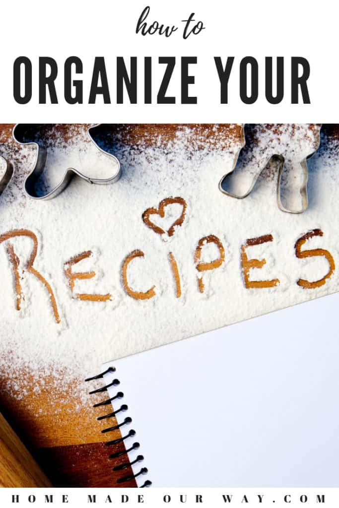 pin image for recipe organization post