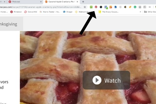 Using the Pinterest save button from Chrome store