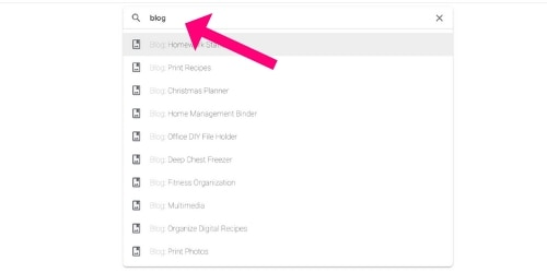 Google Photos search for blog albums