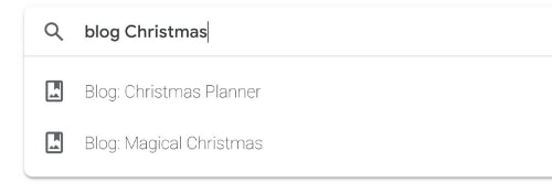 Google Photos search feature narrowed down to blog photos of Christmas