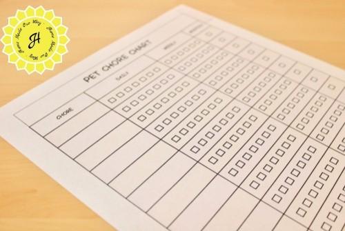 chore chart page
