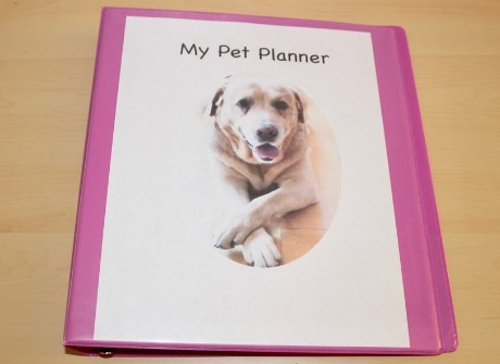 pet planner cover