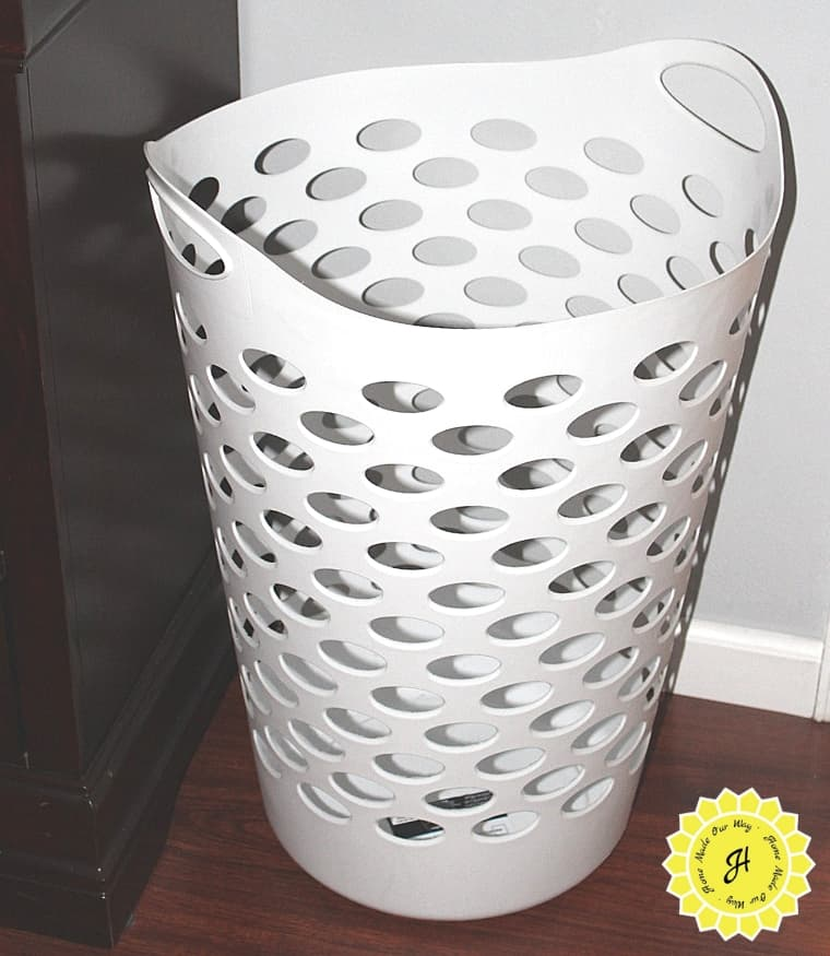 flexible white tall hamper basket for laundry