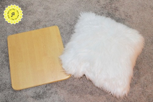 chair seat next to pillow
