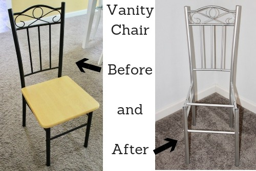 before and after chair DIY